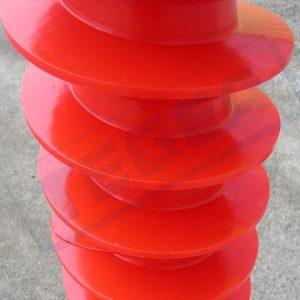 Adiprene, Polyurethane or Vulkollan screws