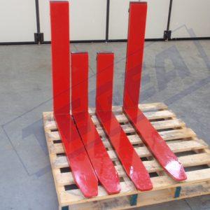 Forks for lift trucks coated with Adiprene, Polyurethane or Vulkollan