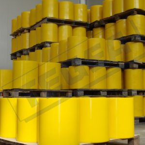 Rollers coated with Adiprene, Polyurethane or Vulkollan